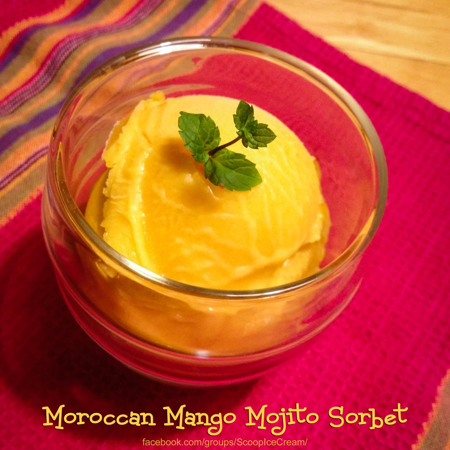 Moroccan Mango Mojito Sorbet