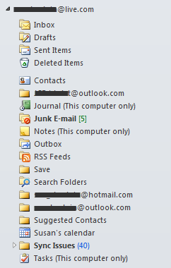 Windows Live data file in Outlook
