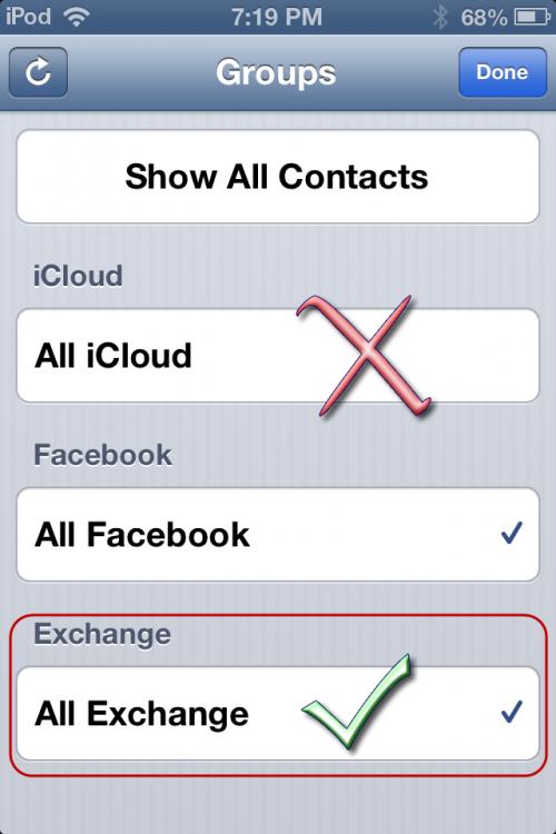 iOS Groups